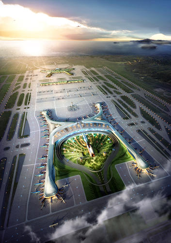 <p>Integrating sustainable elements into Incheon wasn't easy. Unlike office buildings, airports energy intensive for 24 hours a day, they have large floor areas, they're sprawling, and windows generally can't open. An airport the size of Incheon also produces as much trash as a city.</p>
