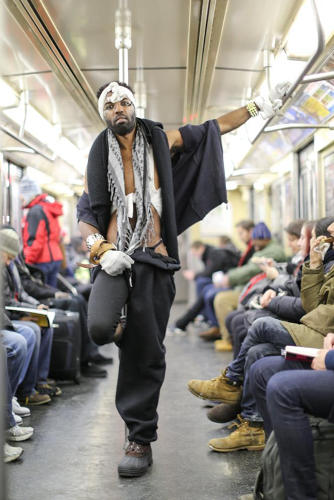 <p>&quot;Is this for Fashion Week?&quot; asked Stanton. &quot;Nah, I just got out of jail. I've been wearing this shit for two weeks.&quot;  (AP Photo/Humans of New York, Brandon Stanton)</p>