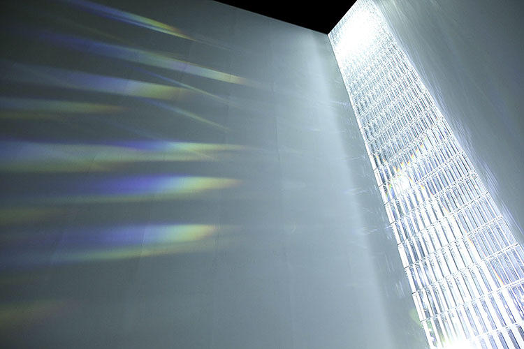 <p>Yoshioka's <em>Rainbow Church</em> skips the pigment found in traditional stained glass. Instead, he lets the light shine through 500 prisms.</p>