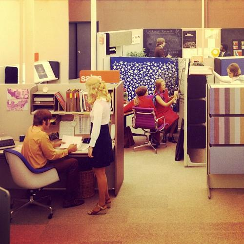 <p>Robert Propst's Action Office. Groovy.</p>
