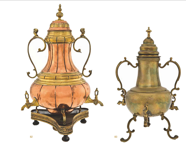 <p><em>Coffee Makers: Macchines da Caffe</em> is a 776-page encyclopedia of beautiful brewing contraptions and their surprisingly complex history by Italian coffee fanatics Enrico Maltoni and Mauro Carli. Here, 18th-century Dutch coffeemakers in copper and brass.</p>
