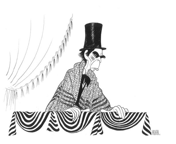 "<p>At the peak of his career, ""Hirschfeld"" was a verb. &quot;You got Hirschfelded&quot; meant you had officially made it in show biz, or any biz, really. <br /> Raymond Massey in <em>Abe Lincoln In Illinois</em>, c. 1971.</p>"