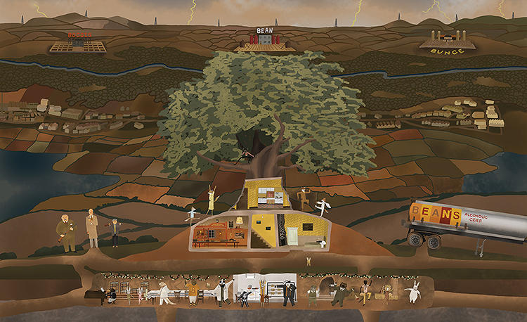 <p>Seitz's book charts Anderson's creative ascent from that debut feature to last year's <em>Moonrise Kingdom</em>.</p>  <p>Above: Camp Ivanhoe from <em>Moonrise Kingdom</em> by Max Dalton</p>