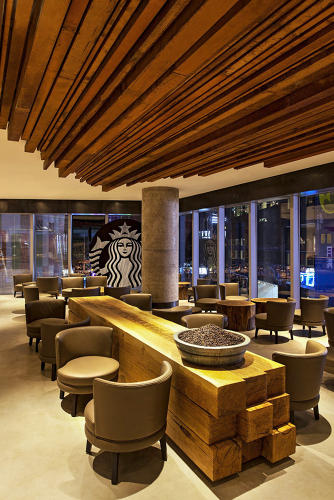 "<p>The Taikoo Li Sanlitun location went for a ""lounge feel,"" with lower, softer seating where strangers could sit across from each other and potentially make friends.</p>"