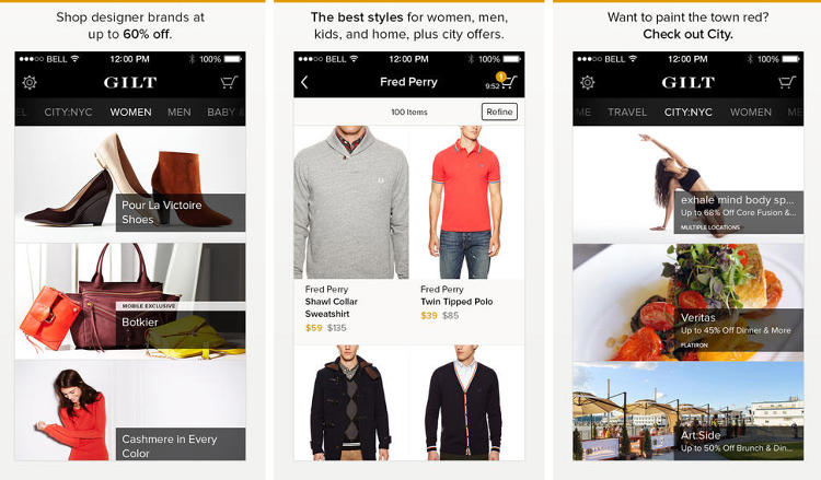 <p>You've <a href=&quot;http://www.fastcompany.com/3017920/most-innovative-companies-2010/21gilt-groupe&quot; target=&quot;_self&quot;>heard about Gilt, right? </a> The web shopping giant just rolled out a redesigned app. So you can shop 'til you drop serious cash! Just in time for a new winter wardrobe.</p>