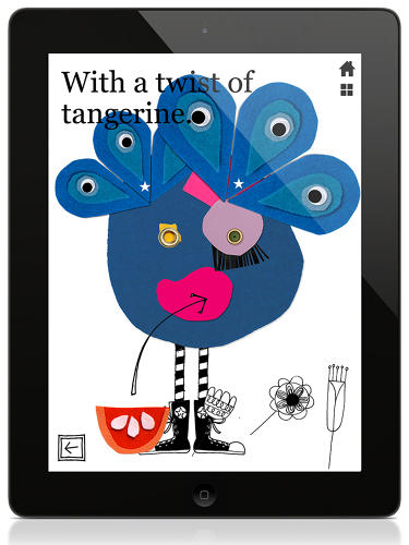"<p><em>This Monster </em>is an interactive children's app created by former MoMA New York graphic designer and Kate Spade art director Julianna Goodman, who wrote and illustrated it. (Meghan Eplett provided additional illustration, and David Lanza composed its original music.) The game, which might make future art directors out of the five-year-olds who play it, successfully communicates the handmade through the digital. Goodman used color emphatically, as well as fabric and paper collages, watercolors, and hand drawings. Simple but vivid sentences accompany its three ""chapters."" This peacock monster is a character from the ""Color Eater"" chapter.</p>"