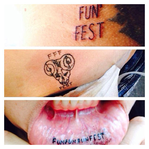 <p>If you make your love for FFF known via body art, you are &quot;down for life&quot; and get free entrance to the fest every year. Some people actually do this. On their inner lips.</p>