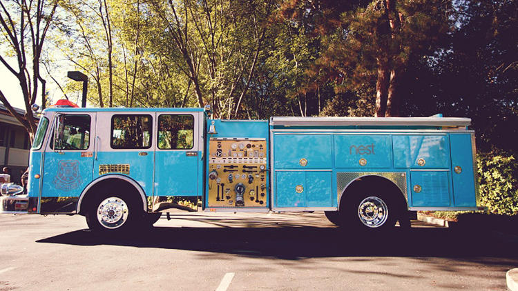 <p>Nest unveiled a fire truck today that will travel around the country to promote its newest product, a smoke and carbon monoxide detector.</p>