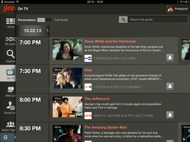 <p>A personalized live TV guide only surfaces movies and shows based on a user's tastes.</p>