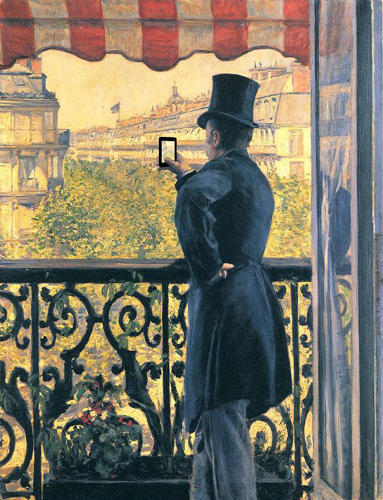 "<p>""L'homme Au Balcon"" by Gustave Caillebotte</p>"