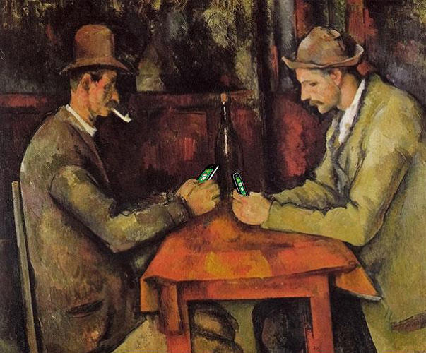 "<p>""The Card Players"" by Paul Cézanne</p>"