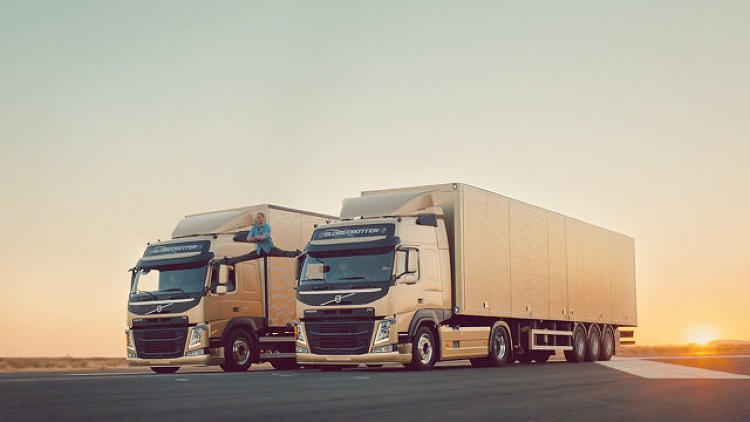 <p>Two speeding trucks, a sunset, some Enya, and the Muscles from Brussels. <a href=&quot;http://www.fastcocreate.com/3021674/jean-claude-van-damme-does-the-splits-between-two-volvo-trucks-and-its-spectacular&quot; target=&quot;_self&quot;>What more can you ask for</a>?</p>