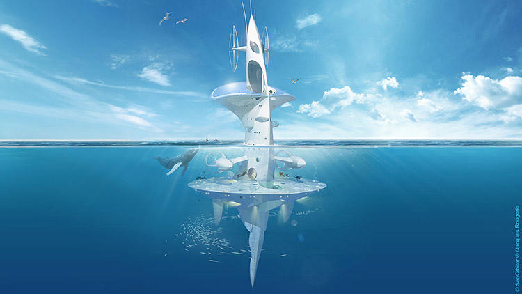 <p>When it's completed, the spaceship-like underwater vessel, the SeaOrbiter, will become the first ocean lab where researchers can live 24/7 over long periods of time.</p>