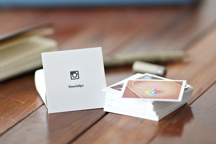<p>&quot;We initially used them with a thank-you message on the back and included them with every set of prints we sold on our site,&quot; continues Benjamin. &quot;Then we realized we should use them as our own business cards to show off our print quality.&quot;</p>