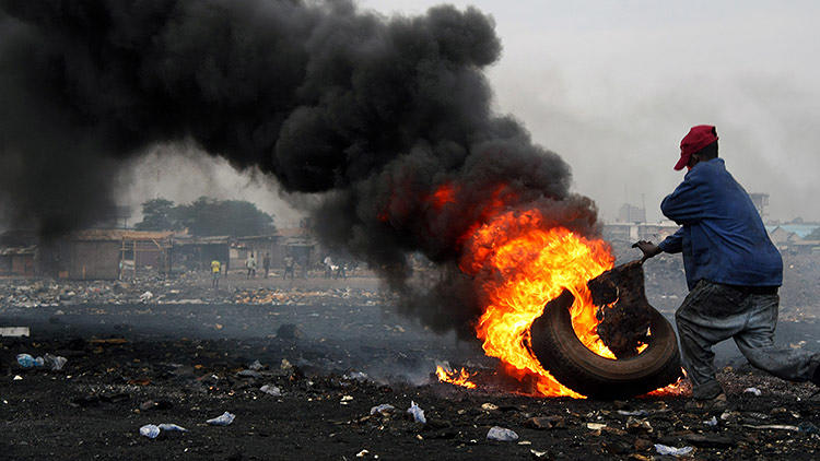 <p>Agbogbloshie, Ghana, home to the world's second largest electronic waste dump, is the most polluted place in the world.</p>