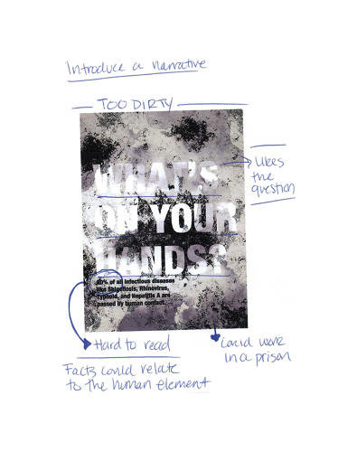<p>Illustrator Maira Kalman found this iteration of the poster &quot;so depressing.&quot; &quot;My instinct is to use my instinct,&quot; she said of her process, &quot;To allow my hand to create images that I'm not expecting.... I try not to think.&quot;</p>