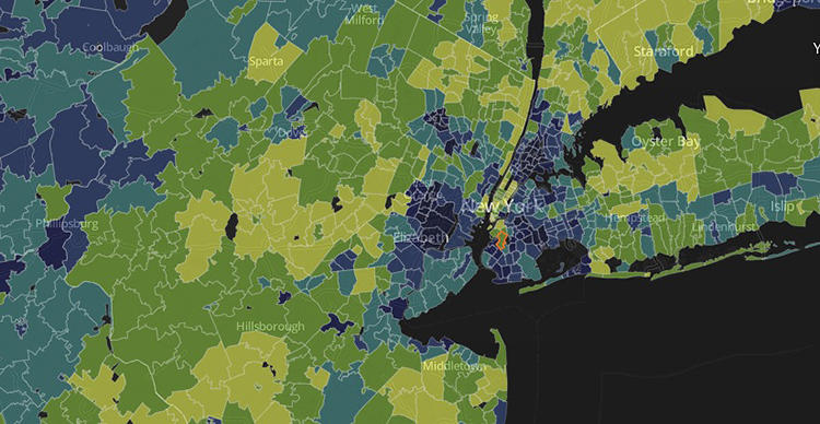 <p>The <em>Post</em>'s analysis showed New York City has the most such areas.</p>