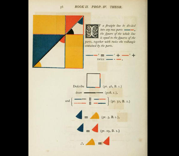 <p>If you'd like to discover Byrne's <em>Elements of Euclid</em> for yourself, it can be found online <a href=&quot;http://www.math.ubc.ca/%7Ecass/euclid/byrne.html&quot; target=&quot;_blank&quot;>here</a>.</p>