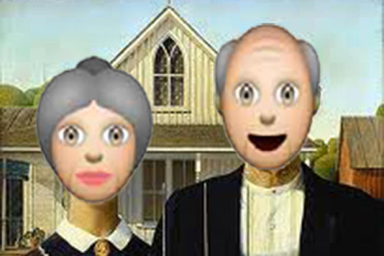 <p>The couple in Grant Wood's <em>American Gothic</em> looks a little different in the <a href=&quot;http://emojinalart.tumblr.com/&quot; target=&quot;_blank&quot;>Emojinal Art Gallery</a>, where emojis supersede the faces and objects in classic artworks.</p>