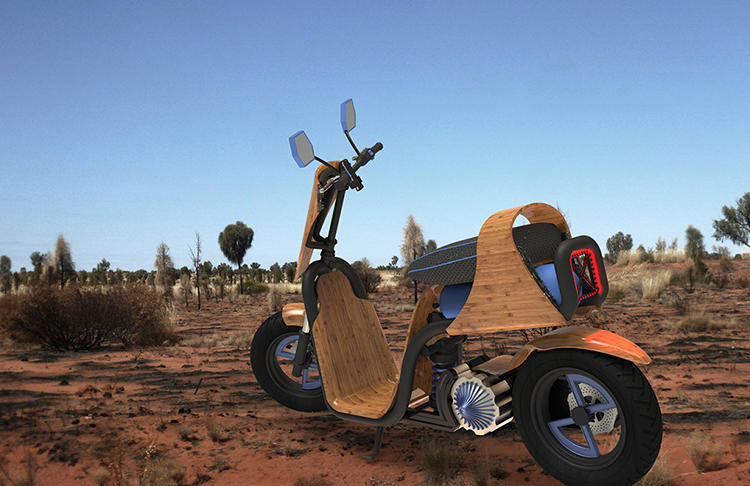 <p>Instead of a city filled with scooter emissions, <a href=&quot;http://www.fastcoexist.com/3022153/this-bamboo-scooter-runs-on-nothing-but-air&quot; target=&quot;_self&quot;>what if we imagined</a> a cleaner, bamboo-based alternative?</p>