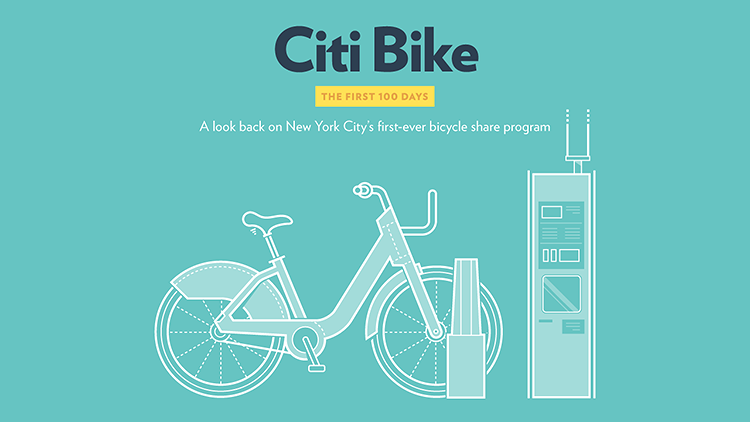 <p>New York's bike share program Citibike has been around for enough time to start evaluating its success. <a href=&quot;http://www.fastcoexist.com/3020817/visualized/new-yorks-love-affair-with-citi-bike-visualized&quot; target=&quot;_self&quot;>This infographic takes you through</a> the numbers of the first 100 days: People love the blue bikes.</p>