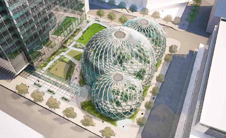 <p>Instead of a boring office park, Amazon employees <a href=&quot;http://www.fastcoexist.com/1682132/amazon-is-building-a-biosphere-for-its-employees&quot; target=&quot;_self&quot;>will have</a> a 65,000-square-foot glass dome.</p>
