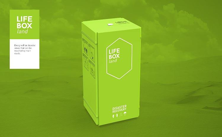 <p>LifeBox comes in three styles: Air, land, and water.</p>