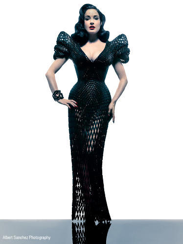 <p>Brooklyn architect/designer Francis Bitonti and fashion designer Michael Schmidt created this laser-sintered nylon dress adorned with Swarovski crystals for burlesque star Dita von Teese in 2013. Spirals based on the Fibonacci sequence are made to precisely hug her curves. You can't buy this one for yourself, but it's so fabulous that we couldn't resist including it in this slideshow.</p>
