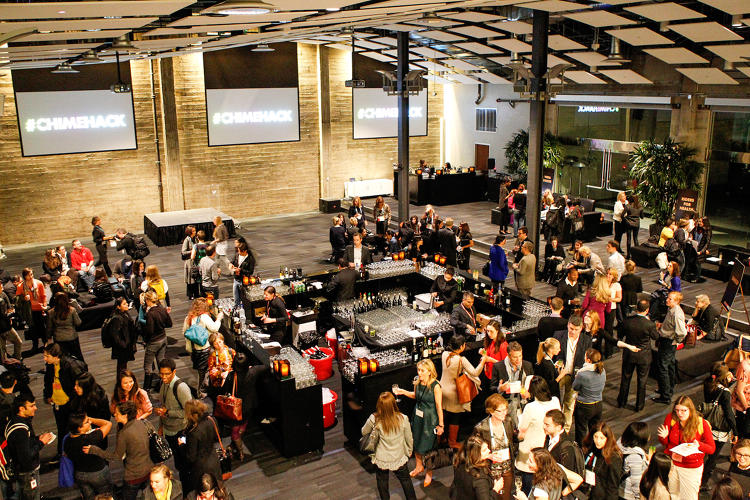 <p>Twitter hosted Gucci's #CHIMEHACK in the common space of its headquarters.</p>
