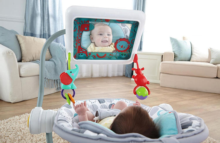 <p>The result is that an iPad is hovering just inches from your baby's face, something like <em>Clockwork Orange's</em> Ludovico technique adapted for newborns.</p>