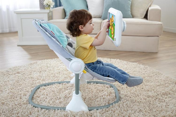 <p>The American Academy For Pediatricians recommends against exposing kids younger than age two to electronic screens, but here comes Fisher-Price with the Apptivity Seat, which is basically baby's first iPad stand.</p>
