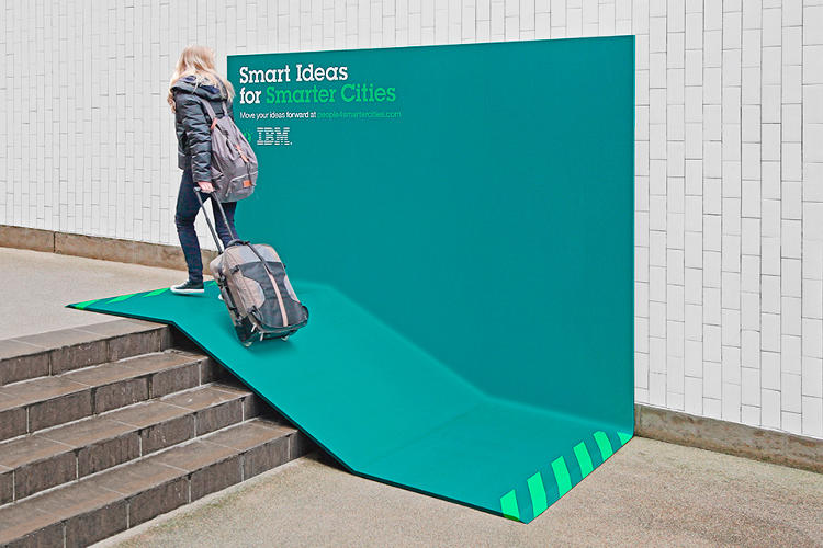 <p>IBM and agency Ogilvy Paris won a Cannes Grand Prix with this campaign that turned outdoor signage into useful urban furniture. See more of the ads <a href=&quot;http://www.fastcocreate.com/1683133/ibm-turns-its-ads-into-useful-urban-furniture&quot; target=&quot;_self&quot;>here</a>.</p>
