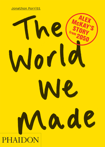 <p><em><a href=&quot;http://www.fastcodesign.com/3019631/back-to-the-sustainable-future-the-year-2050-in-words-and-pictures&quot; target=&quot;_self&quot;>The World We Made: Alex MacKay's Story From 2050</a></em>, by Jonathan Porritt</p>  <p>In <em>The World We Made</em>, environmentalist (and knight) Sir Jonathan Porritt envisions what the world would look like in 2050 if we humans play our eco-friendly cards right. With hyper-realistic photo manipulations, he envisions mandatory water-efficient homes, electric planes, and a banning of gas-guzzling cars. All of the futuristic technology he writes about is either currently in development or likely to be in development soon, he says. Instead of using scare tactics, like showing cities flooded after global warming, he presents a nearly Utopian vision of how smart and conscientious design could help create a sustainable future.  <em>The World We Made</em>, published by Phaidon, is available for purchase <a href=&quot;http://www.amazon.com/The-World-We-Made-McKays/dp/0714863610&quot; target=&quot;_blank&quot;>here</a>.</p>