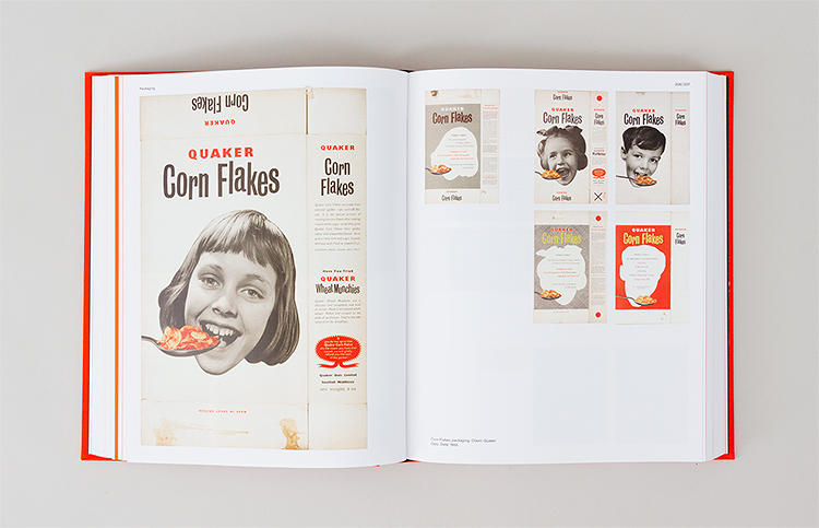 <p>Corn Flakes packaging, 1955.</p>