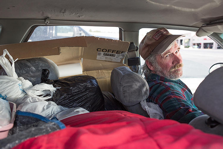 <p>Homeless families sometimes stay in the lots, sleeping in their cars.</p>