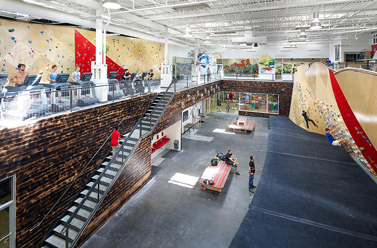 <p>It's a combination climbing gym and collaborative workspace in Massachusetts.</p>