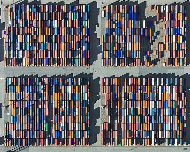 <p>A top-down photoshoot of a German port reminds us how big our manmade landscapes are.</p>