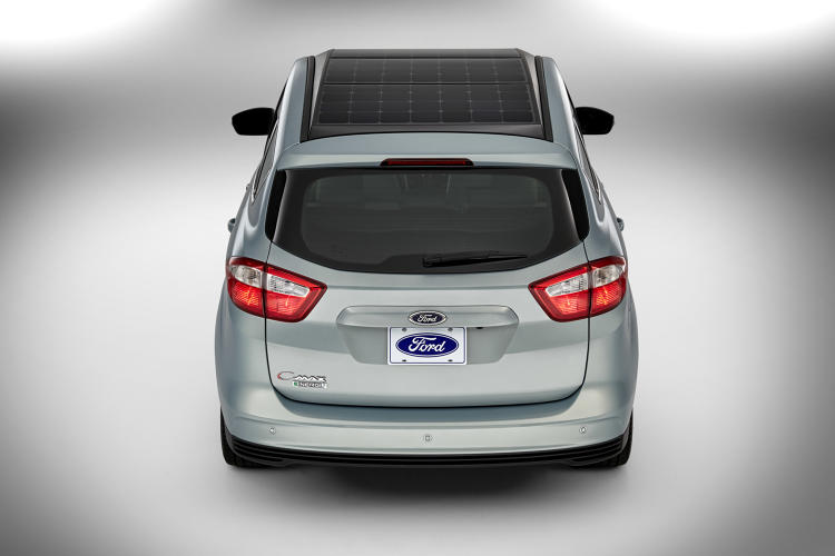 <p>In order to get enough power to operate, the C-MAX Solar Energy Concept has to park under a solar canopy outfitted with a solar concentrator.</p>