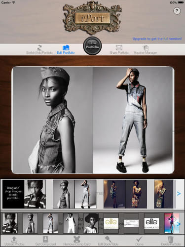 <p>The app is similar to the iPhone's Passbook, which puts all your travel-related information in one convenient place; iPort allows models and artists to centralize all their work-related photos and documents.</p>