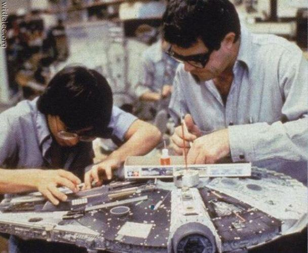 <p>Hard at work on the Millennium Falcon.</p>