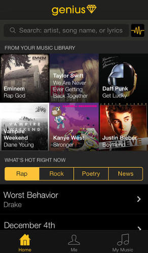 <p>Rap Genius launched its first iPhone app, <a href=&quot;https://itunes.apple.com/us/app/genius-by-rap-genius-search/id709482991&quot; target=&quot;_blank&quot;>Genius</a>, Tuesday, allowing fans to browse notations for song lyrics, news articles, poetry, history, and more.</p>
