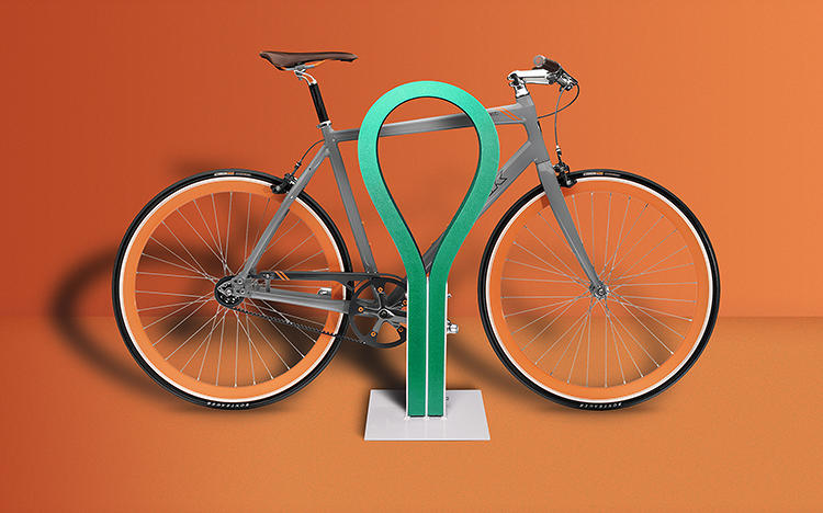 <p>Most bike racks are made of steel. Not the Loop.</p>