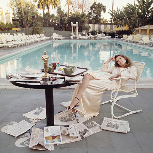 <p>O'Neill's then-girlfriend Faye Dunaway at the Beverley Hills Hotel, the morning after winning the Best Actress Oscar for her role in <em>Network</em>. &quot;Once someone wins an Oscar [Dunaway for best actress], their money goes from a million to 10; they get every script in the world. It's the start of the next step of their lives, and I wanted to capture that. It was about 6:30 in the morning,&quot; O'Neill told the <a href=&quot;http://www.telegraph.co.uk/culture/photography/10569295/The-best-of-Terry-ONeill.html?frame=2789541&quot; target=&quot;_blank&quot;><em>Telegraph</em></a> in a recent interview.</p>