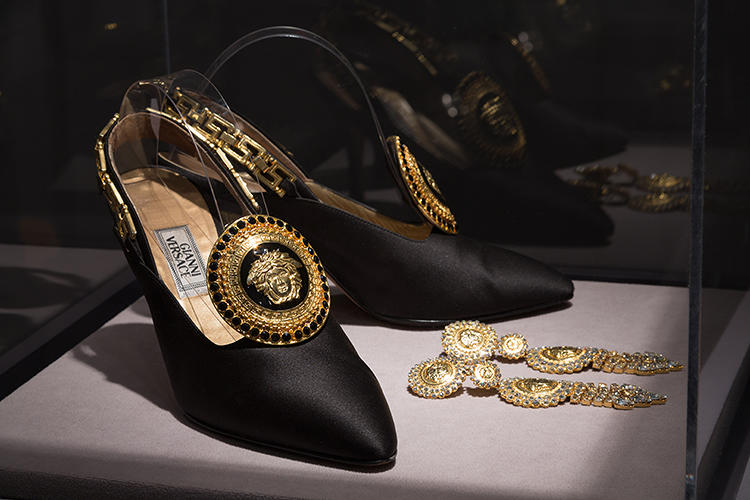 <p>Versace shoes and earrings from 1992.</p>