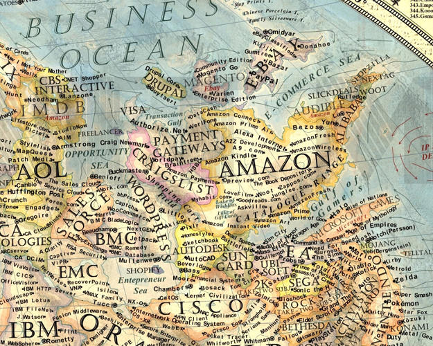 <p>Near the Business Ocean, e-commerce giants like Amazon and eBay neighbor territories like SalesForce and Cisco.</p>