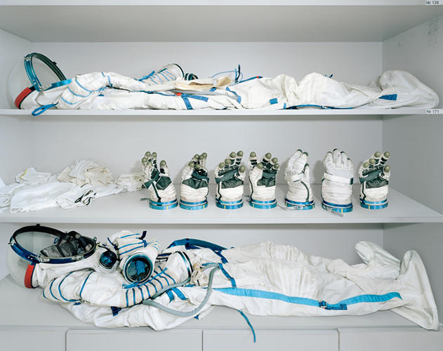 <p>Astronaut dressing room, where the Sokol spacesuits are stored, Yuri Gagarin Cosmonaut Training Centre (Star City, Russia)</p>