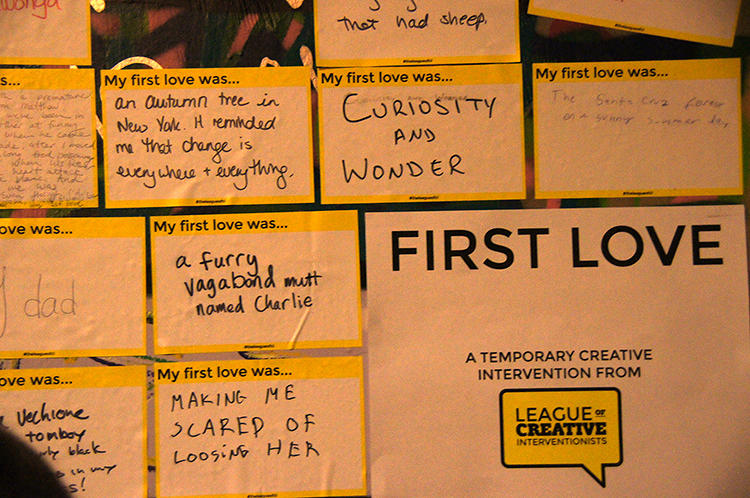 "<p>The group covered a wall in San Francisco with postcards asking a simple prompt: ""My first love was…"" and watched as people started to write in their answers.</p>"