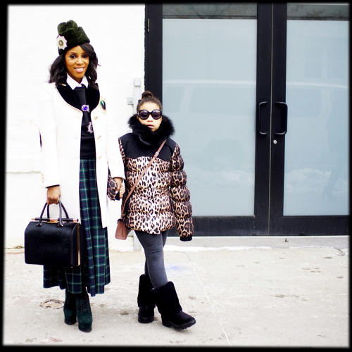 <p>June Ambrose and her daughter braved the cold and the weather report that New York was in for another snow shower for what she said was a show she couldn't miss. &quot;A Tracy Reese show is unforgettable. It is alive, there is a spirit in her work that says I am every woman.&quot;</p>