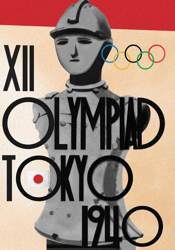 <p>Art deco influences[/url] crop up in posters from the '30s and '40s. 1940 Summer Olympics – Games of the XII Olympiad -Tokyo, Japan</p>