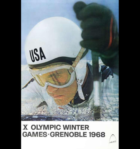 <p>1968 Winter Olympics – X Olympic Winter Games – Grenoble, France</p>